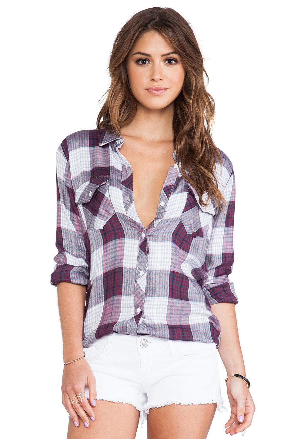 Rails Carmen Button Down in Orchid