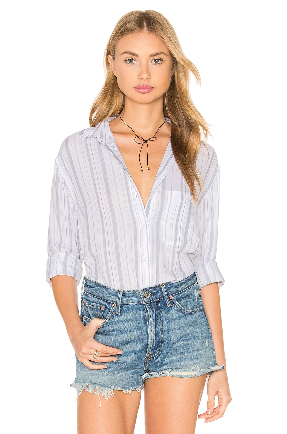 Rails Daniella Button Down in White & Patriot Stipe