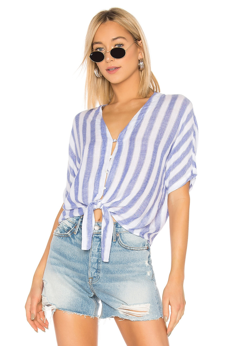 Rails Tops RAILS THEA BUTTON DOWN TOP IN BLUE.