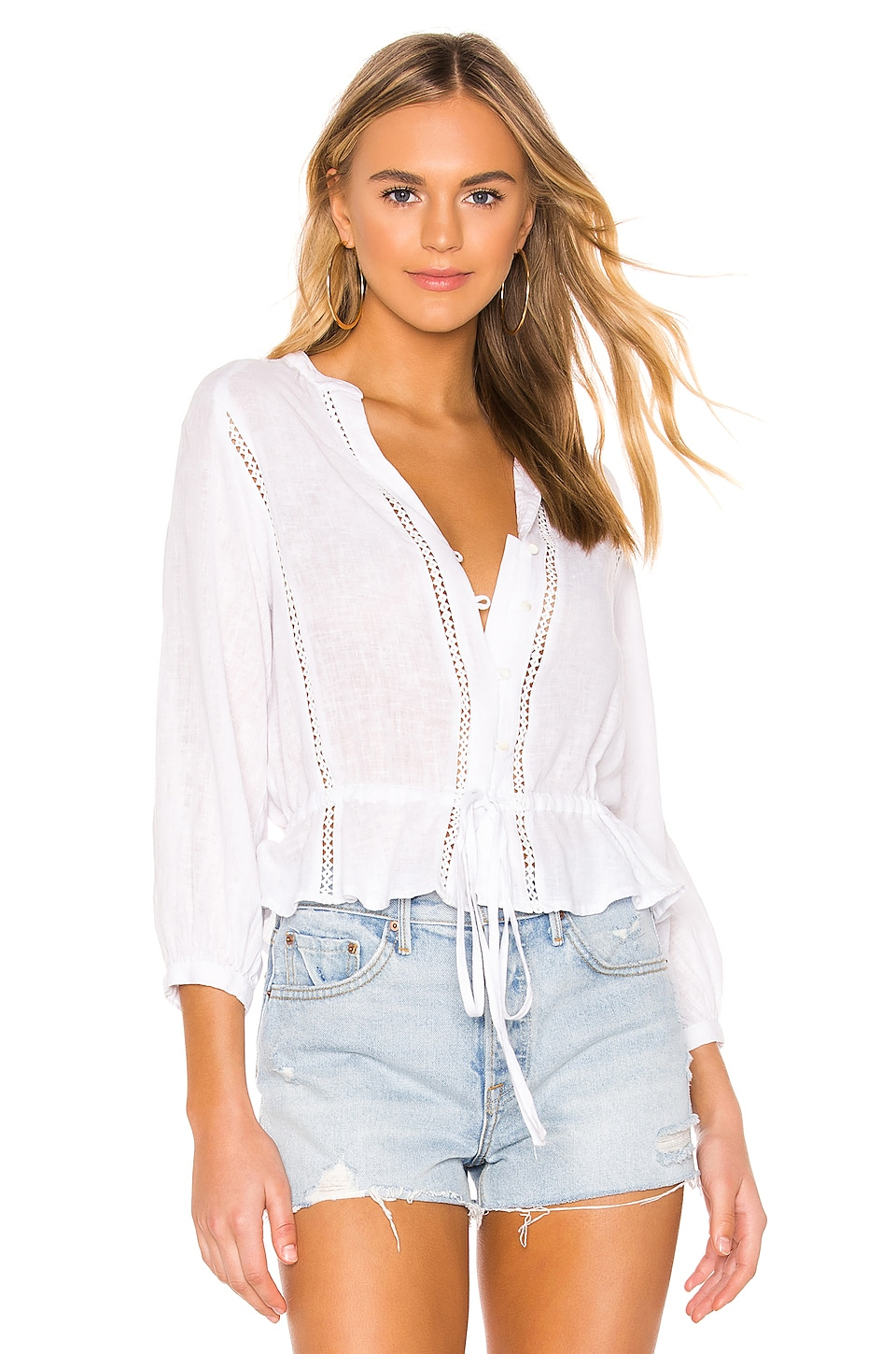 Rails Marti Blouse in White Lace