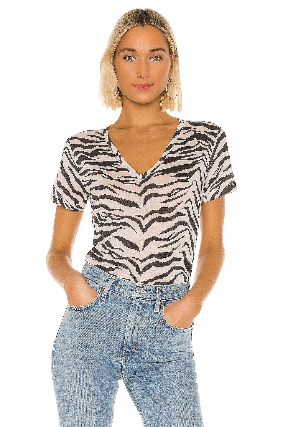 Rails Cara Tee in Ivory Tiger Stripe