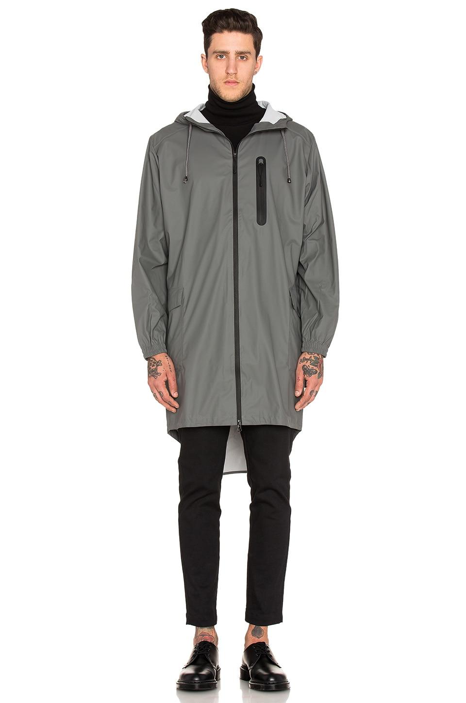 Rains Parka Coat in Grey | REVOLVE