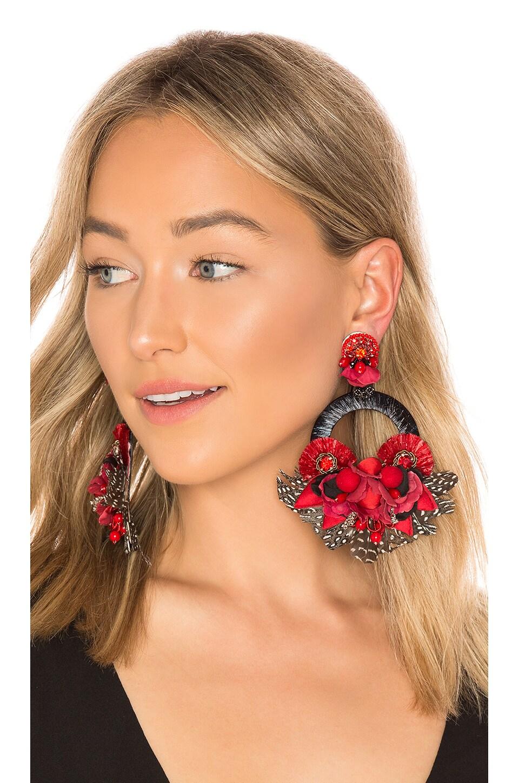 Ranjana Khan Ipanema Earring in Red