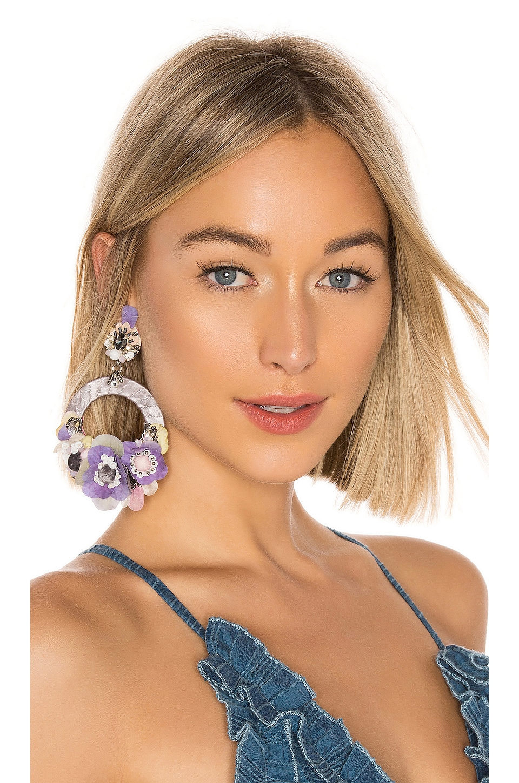 Ranjana Khan Ayla Earrings in Purple