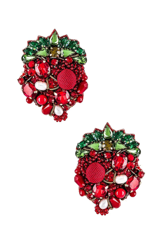 Ranjana Khan Strawberry Earring in Red
