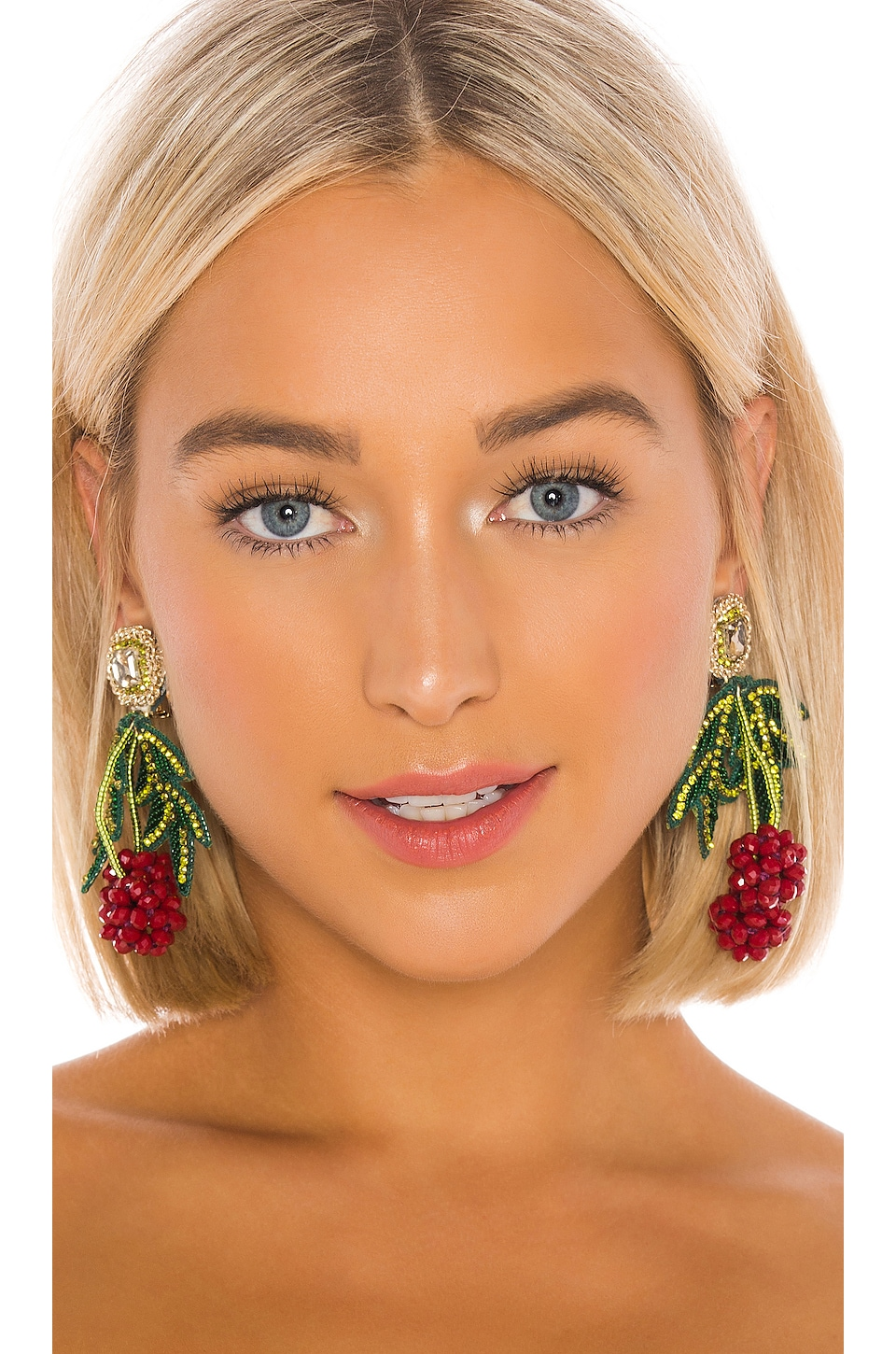 Ranjana Khan Les Framboises Earring in Red & Green