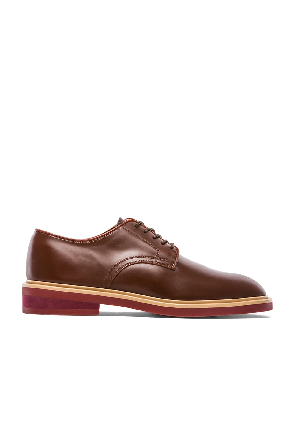 Rain Man Barry Shoe in Dark Brown & Beige & Bric