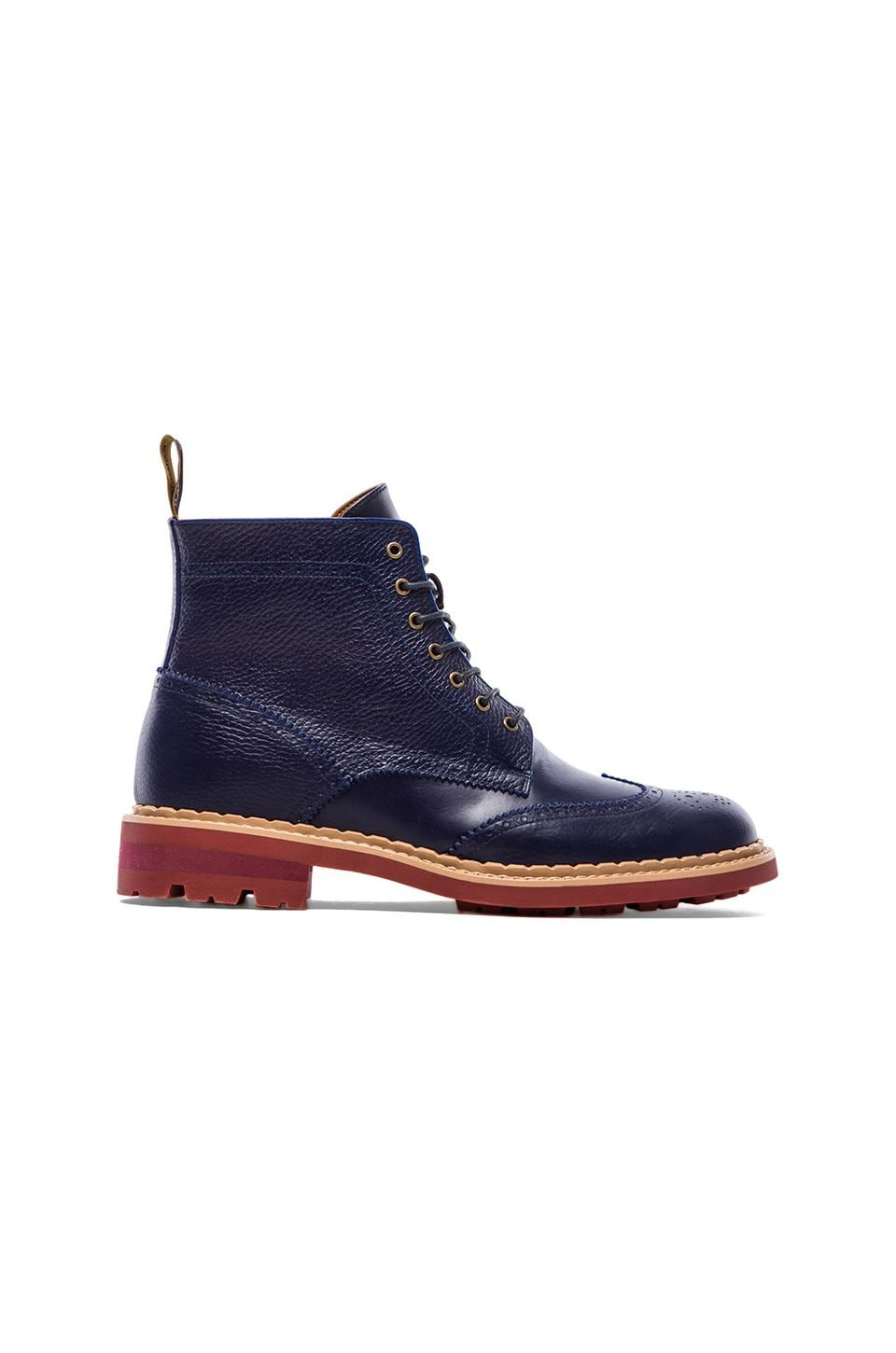 Rain Man Dustin Boot in Navy & Beige & Bric