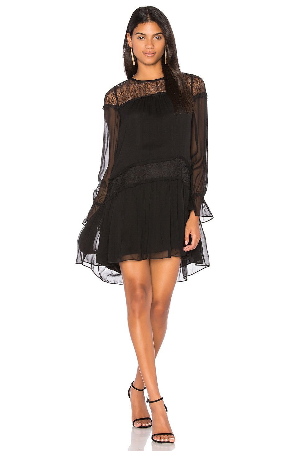 RAMY BROOK Watson Dress in Black & Black Lace