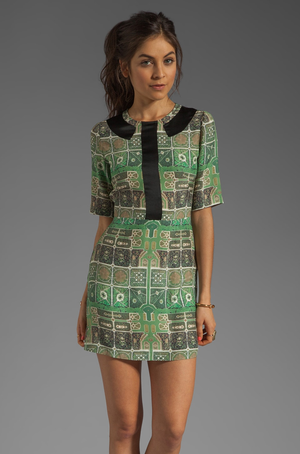 Rachel Antonoff Miriam Printed Silk Dress in Printed Silk