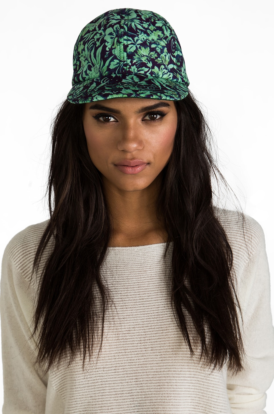 Rachel Antonoff Devonte Cap in Backyard Print