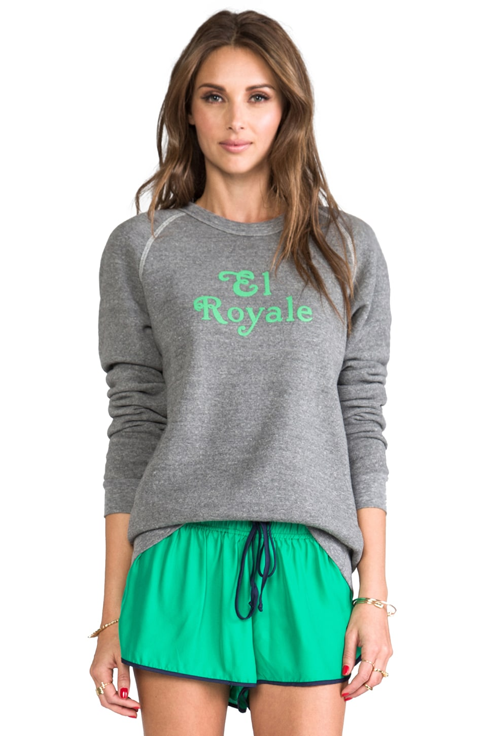 Rachel Antonoff El Royal Sweatshirt in Heather Grey