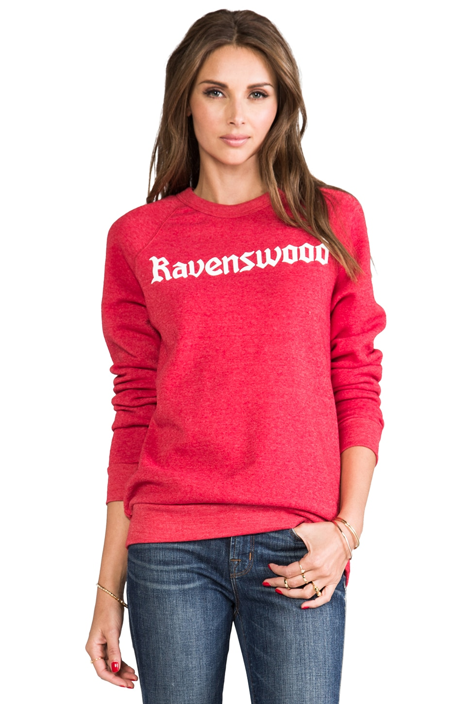 Rachel Antonoff Ravenswood Sweatshirt Heathered Red