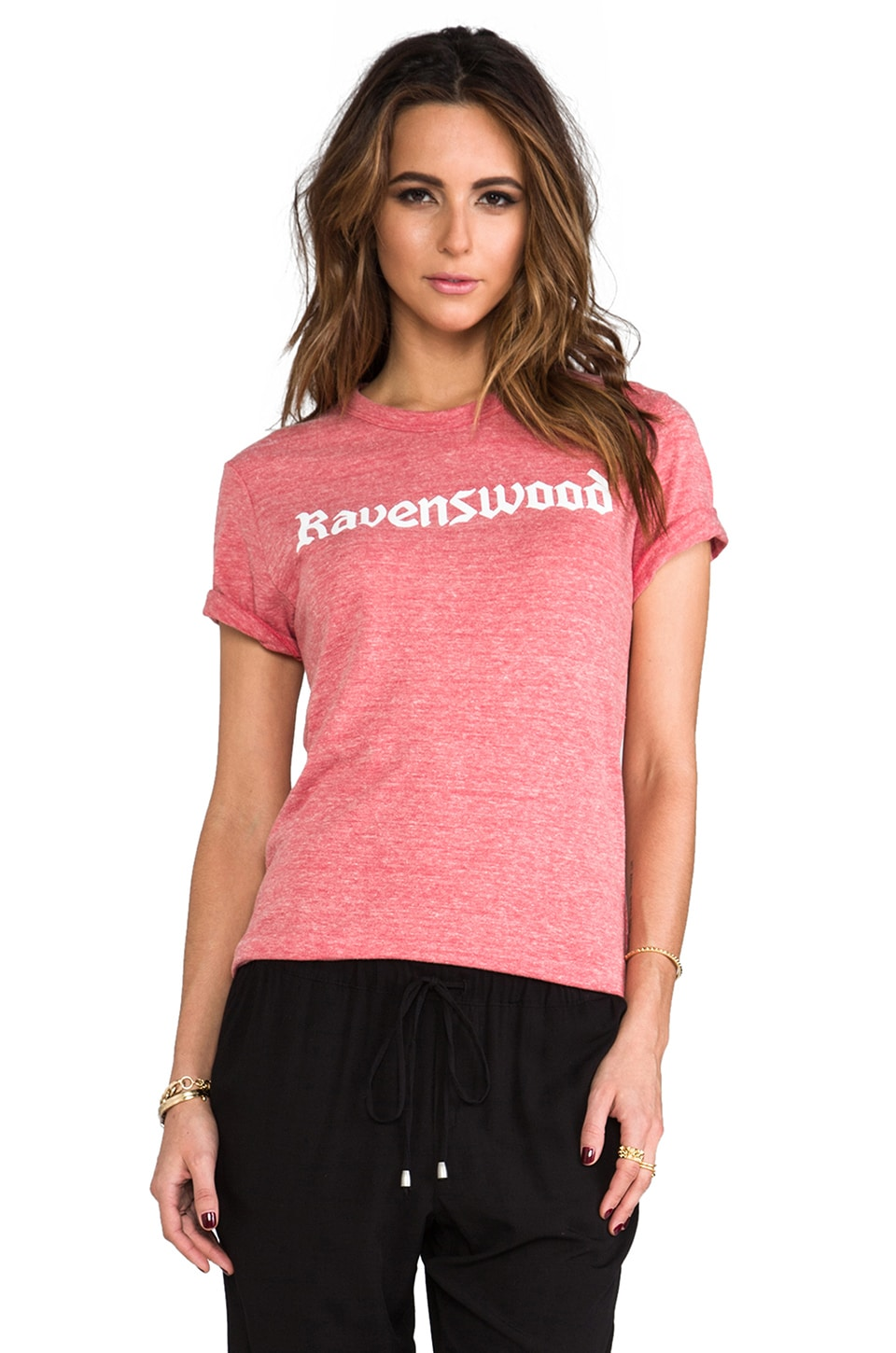 Rachel Antonoff Rosewood Short Sleeve T-shirt in Heathered Red