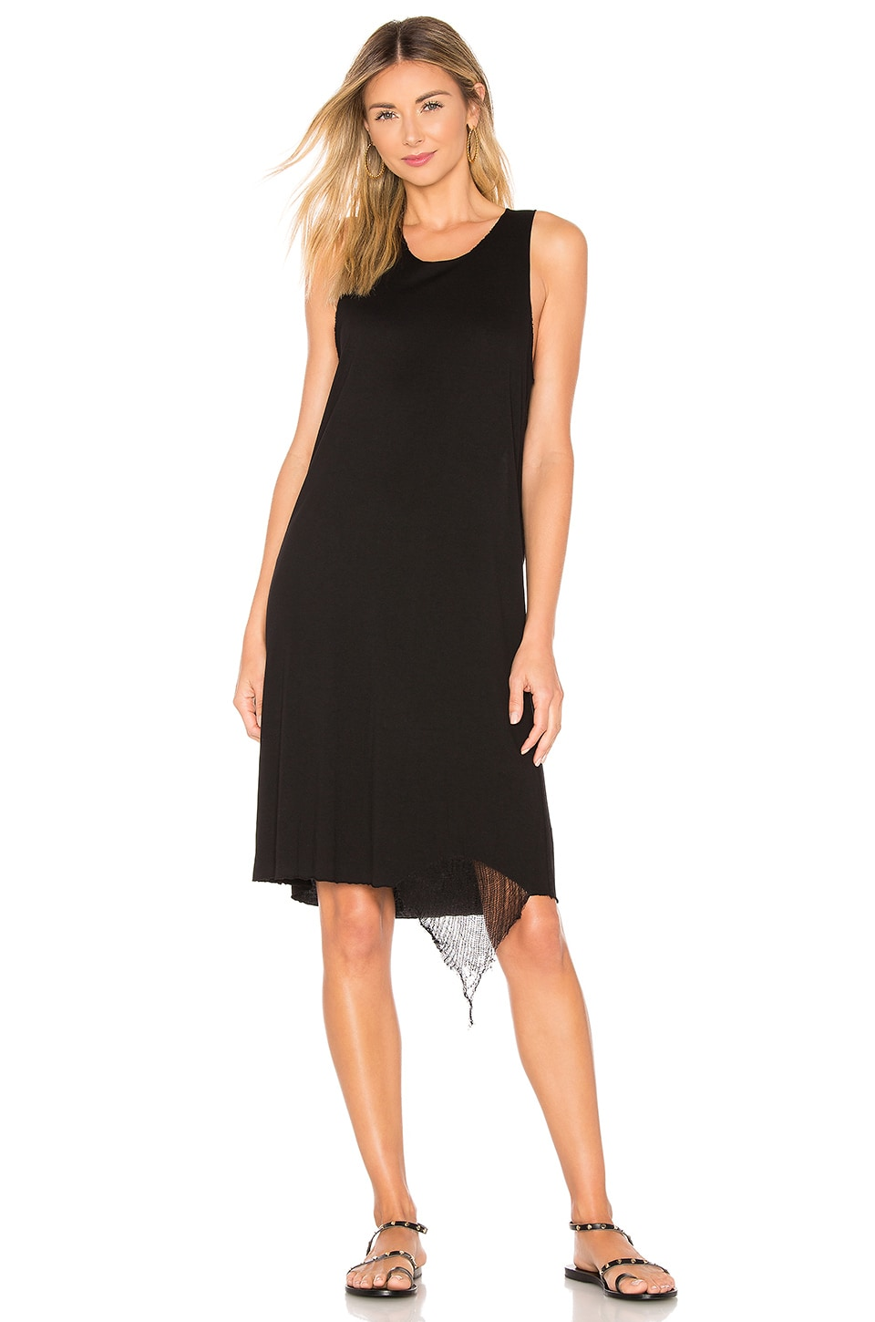 Raquel Allegra Muscle Tank Dress in Black