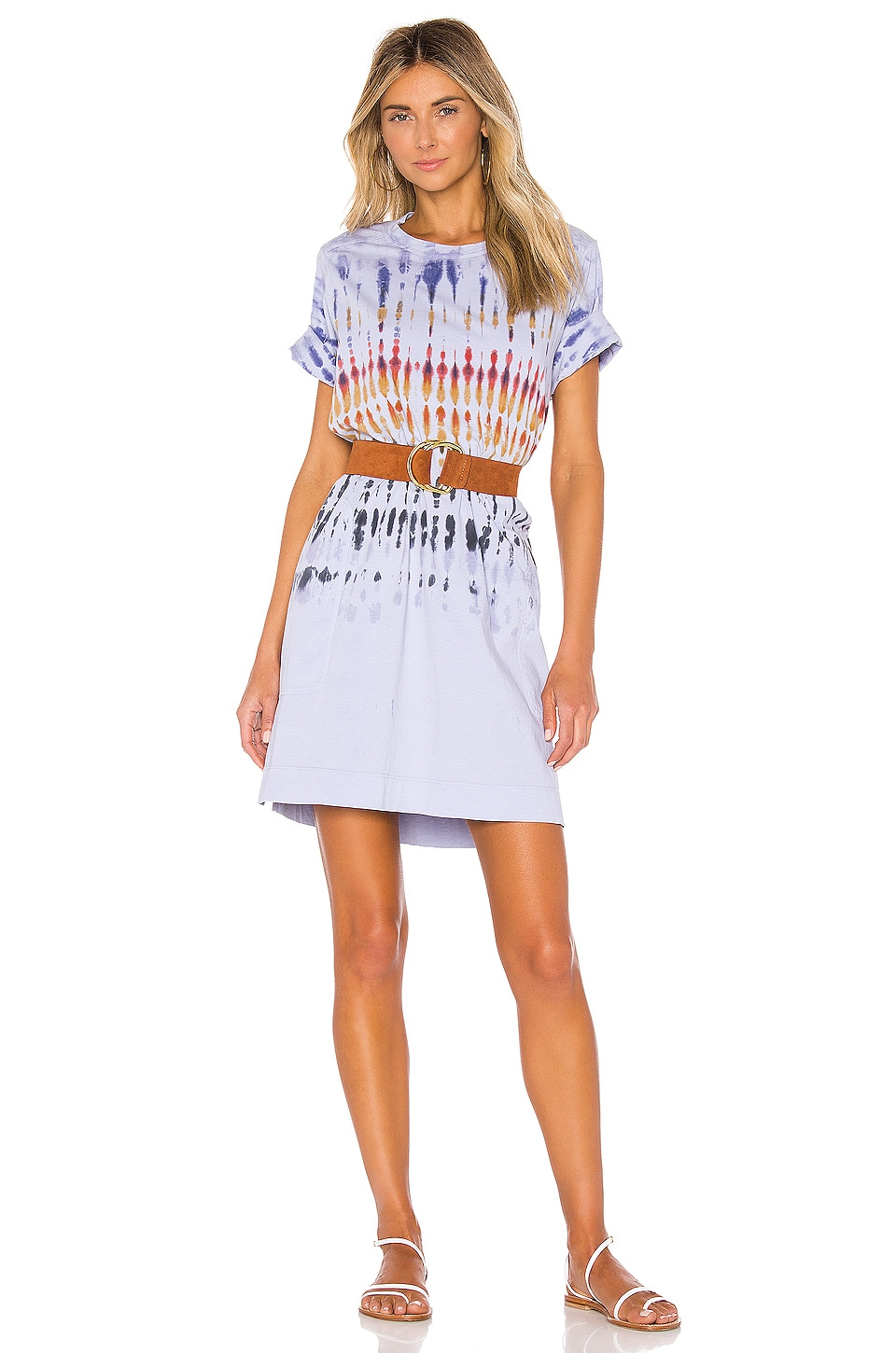 Raquel Allegra x REVOLVE T Shirt Dress in Rainbow Tie Dye