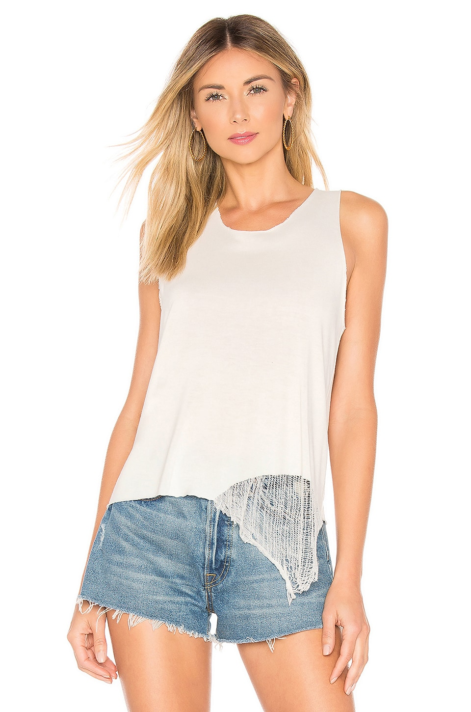 Raquel Allegra Muscle Tank in Ivory