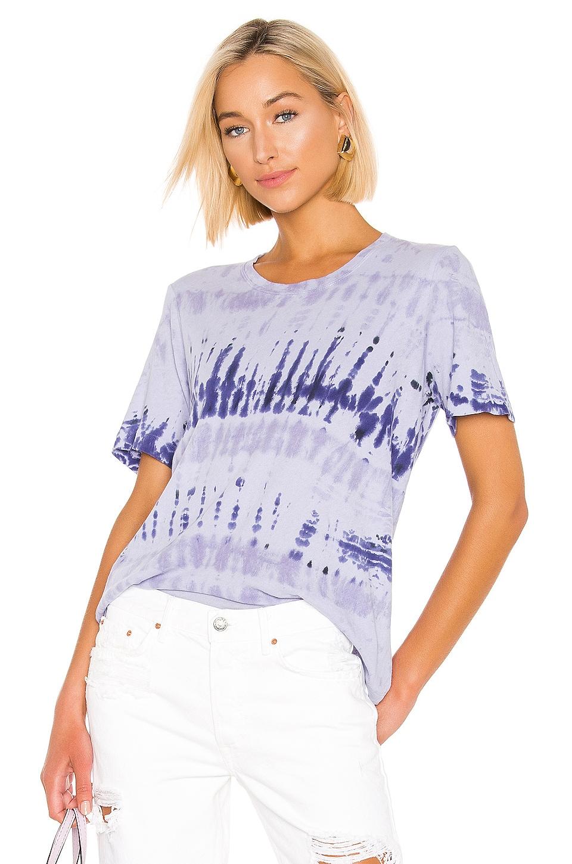 Raquel Allegra Boxy Tee in Lilac Tie Dye