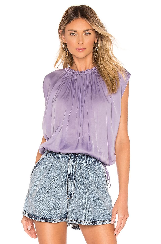 Raquel Allegra Gather Neck Convertible Top in Lilac