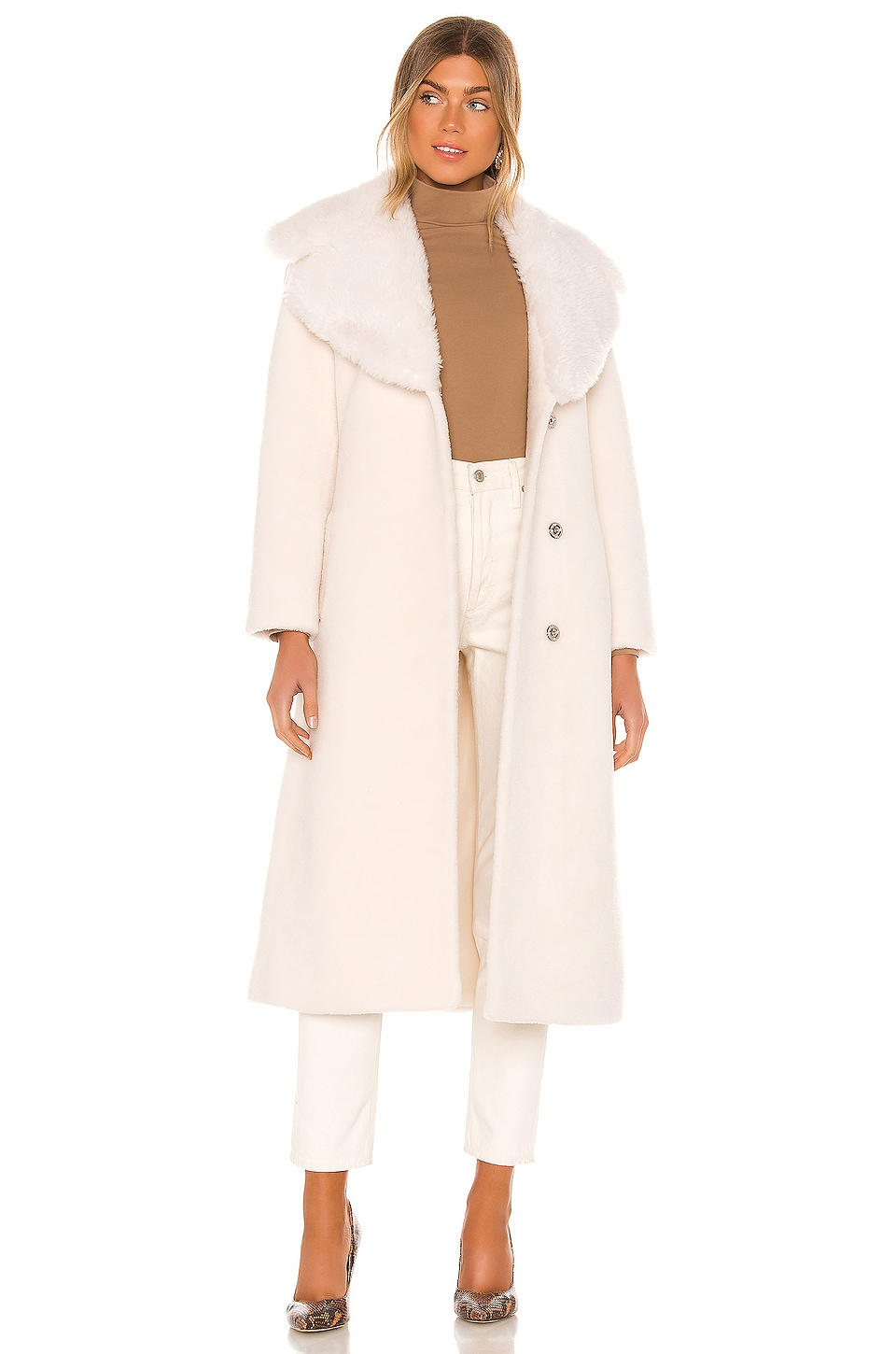 RAVN Love Coat in White