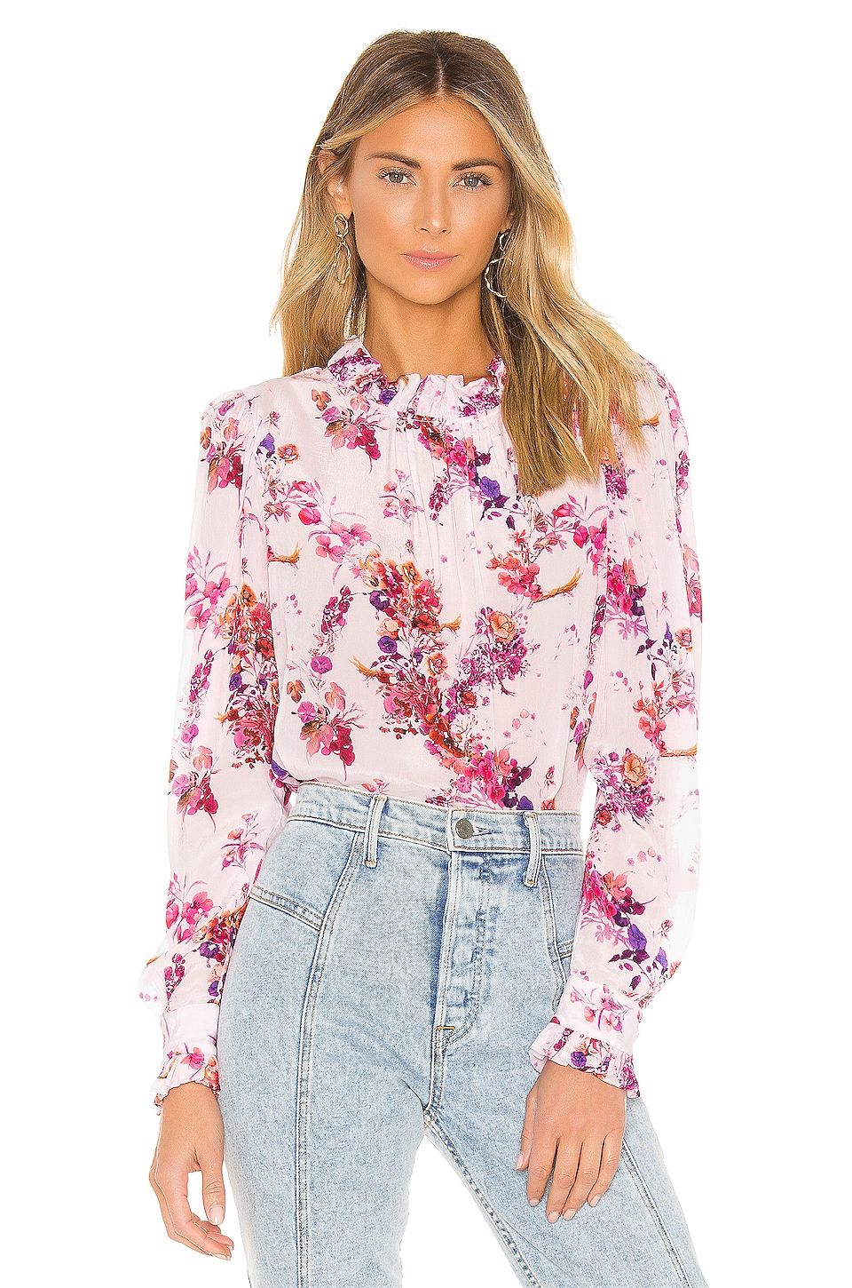 RAVN Rosina Blouse in Pink Flower