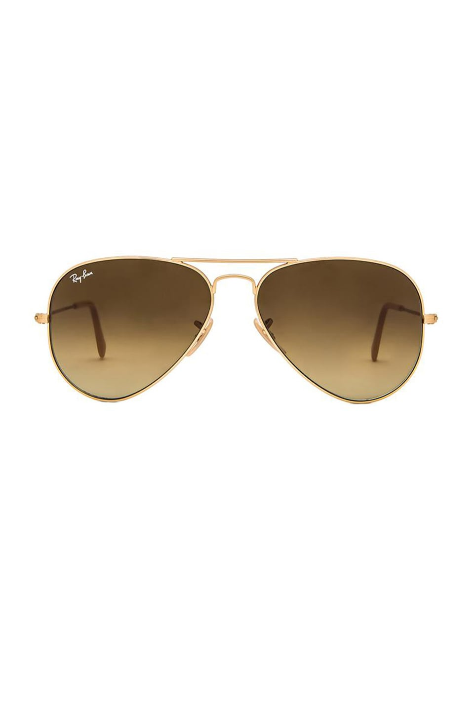 Ray-Ban Aviator Gradient in Gold & Brown Gradient