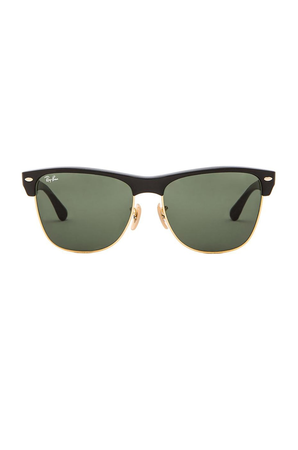 Ray-Ban Clubmaster Oversized in Demi Shiny Black