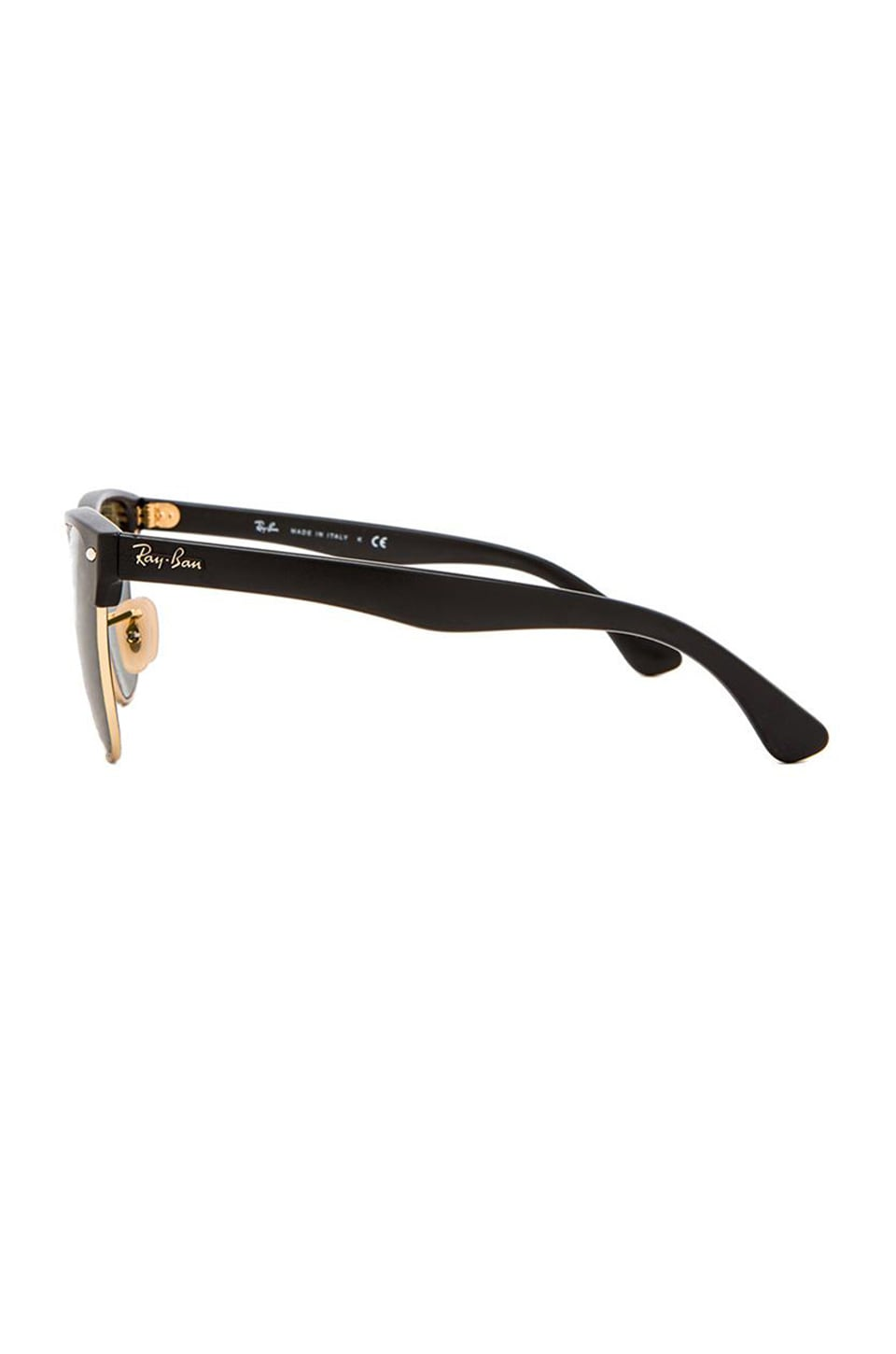 Ray-Ban Oversized Clubmaster in Demi Shiny Black