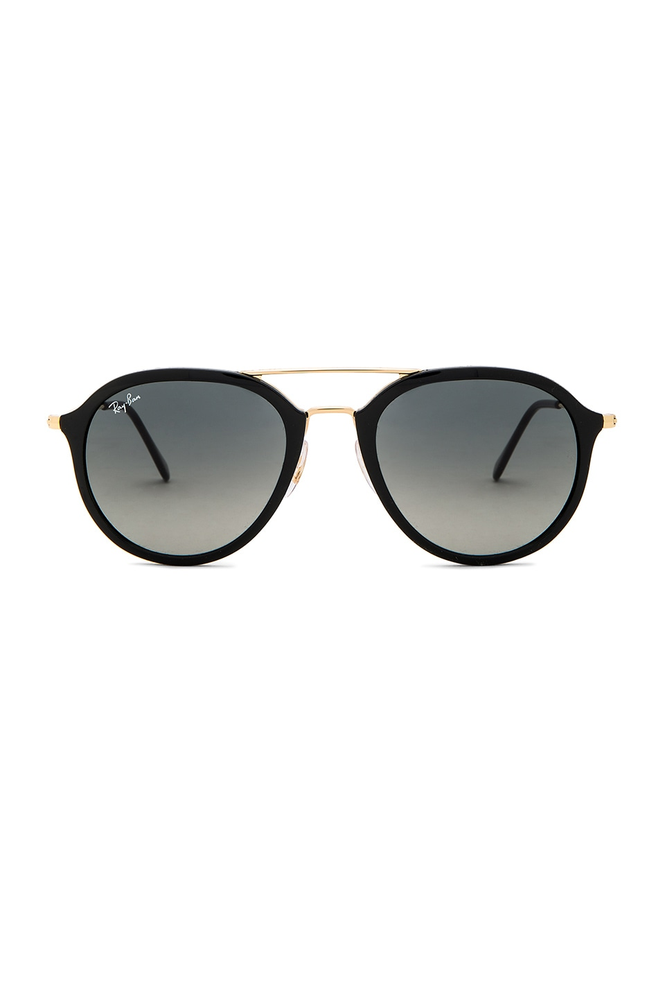 Ray-Ban Double Bridge Aviator in Black & Grey Gradiant
