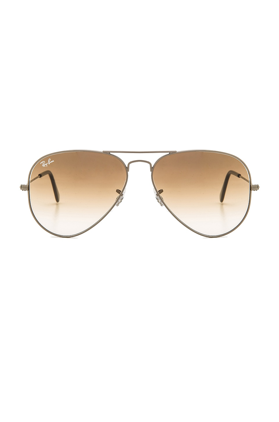 Ray-Ban Aviator in Gunmetal & Crystal Brown Gradient