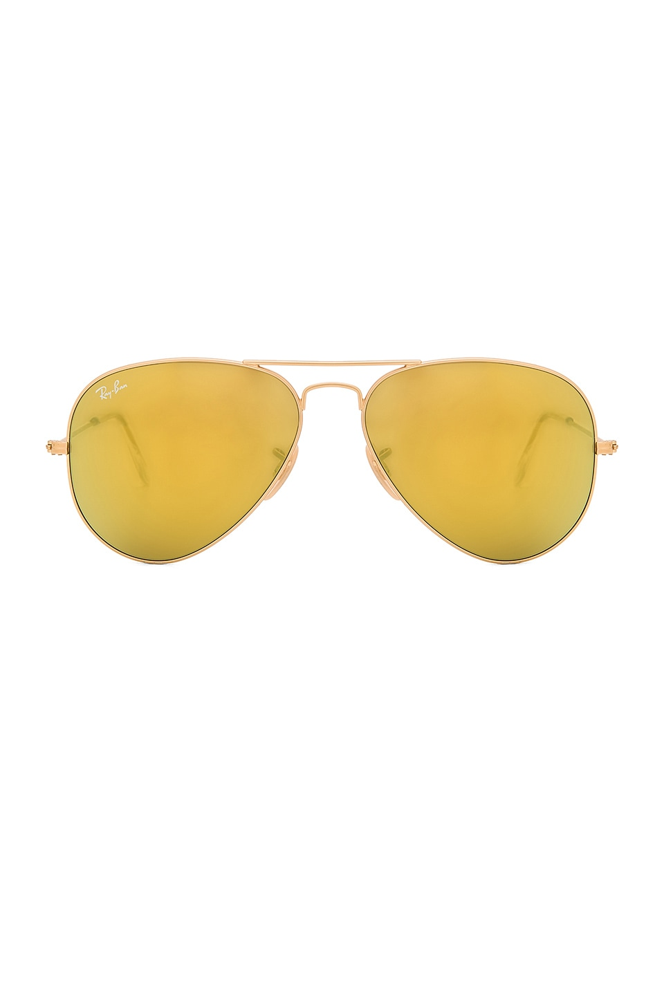 Ray-Ban Aviator in Matte Gold & Brown Mirror Gold