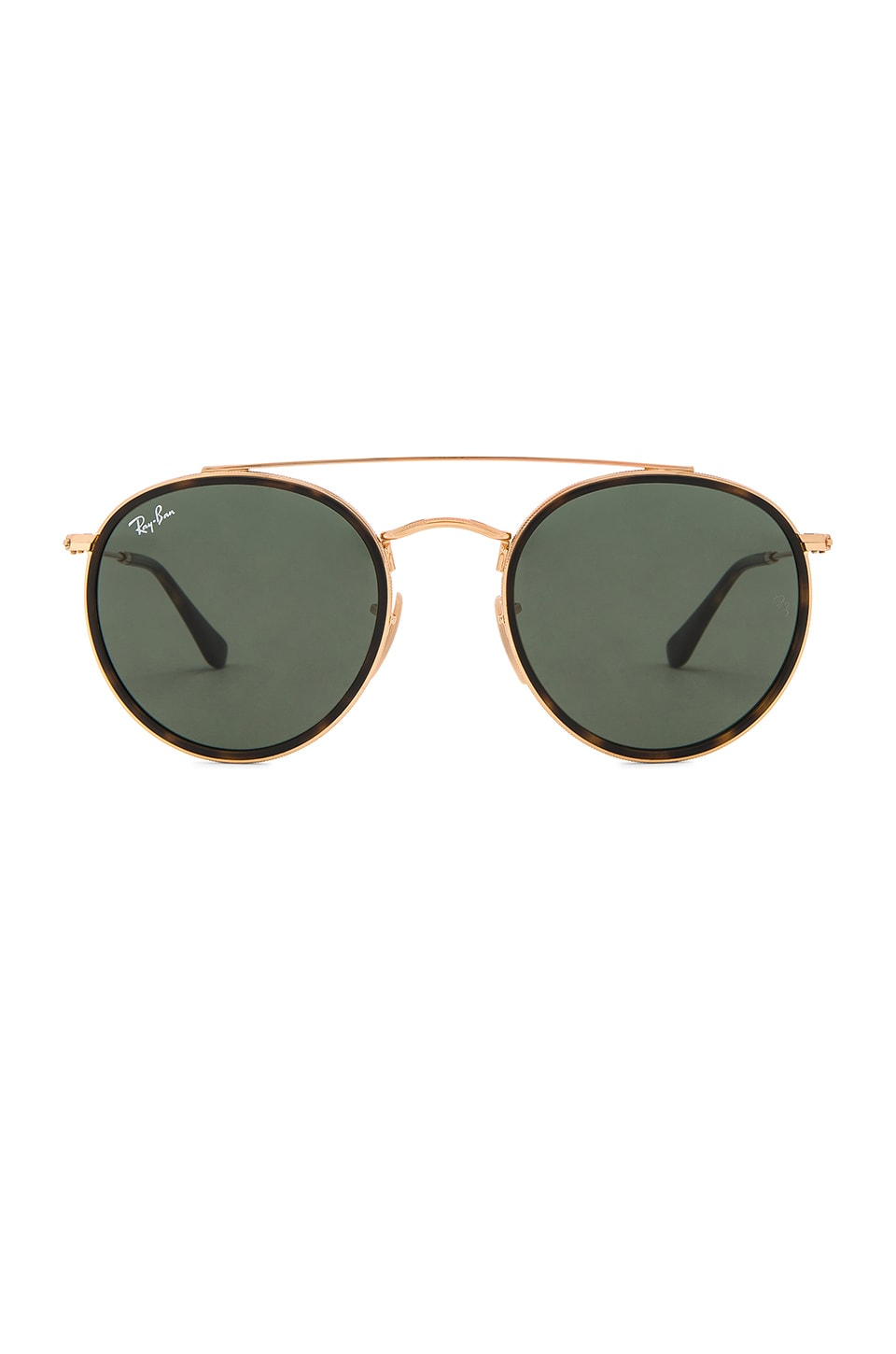 Ray ban sunglasses sale new zealand - Ray Ban Round Double Bridge In Gold Green Classic