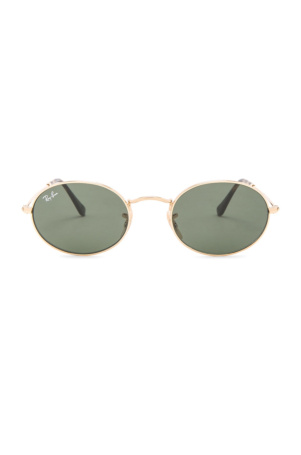 Ray-Ban Oval Flat in Gold & Green Classic