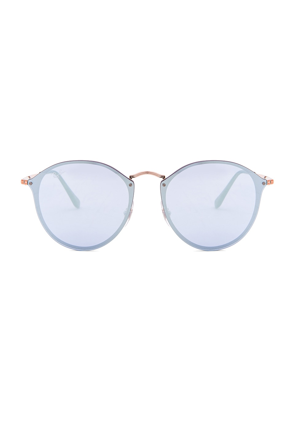 Ray-Ban Blaze Round in Copper & Dark Violet Mirror