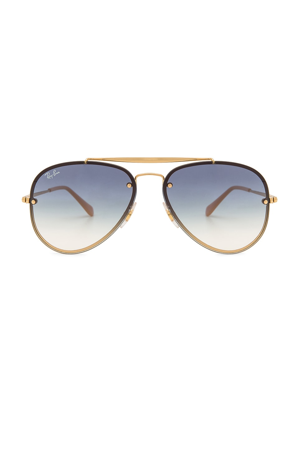 Ray-Ban Blaze Aviator in Gold & Light Blue Gradient