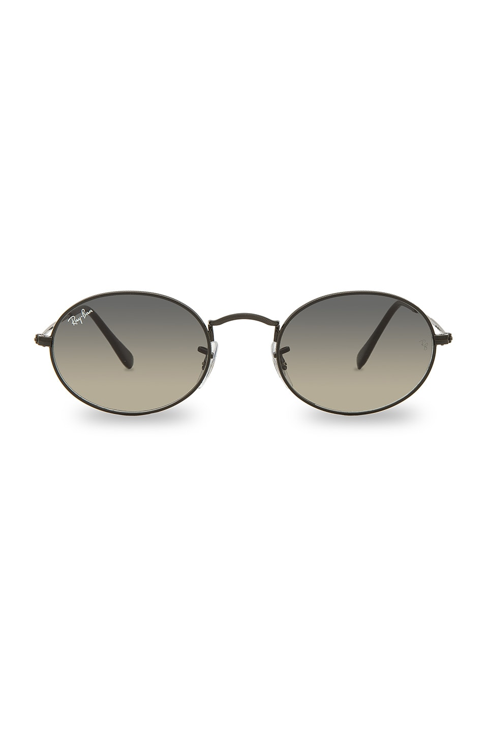 Ray-Ban Oval Flat in Black, Nero & Gray Green