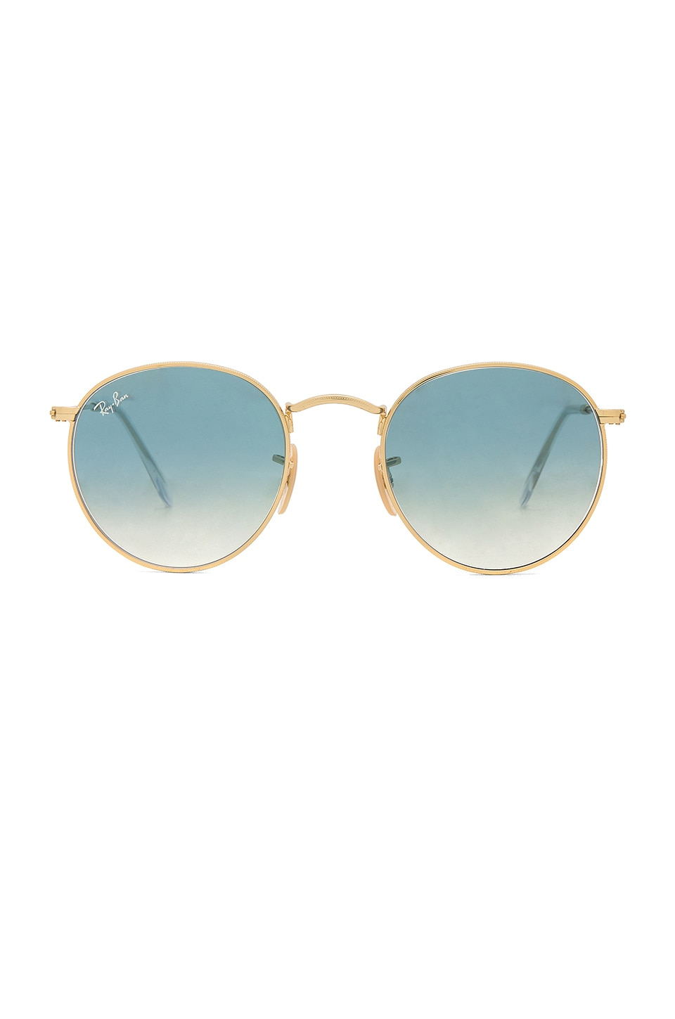 Ray-Ban Round Metal in Gold & Light Blue Gradient