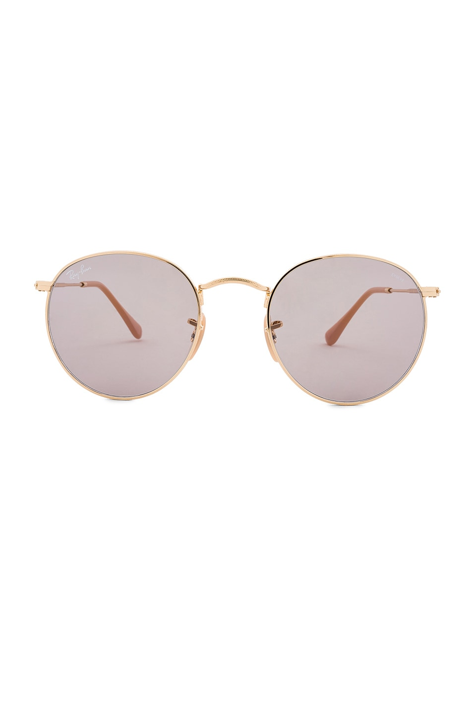 Ray-Ban Round Evolve in Gold & Grey
