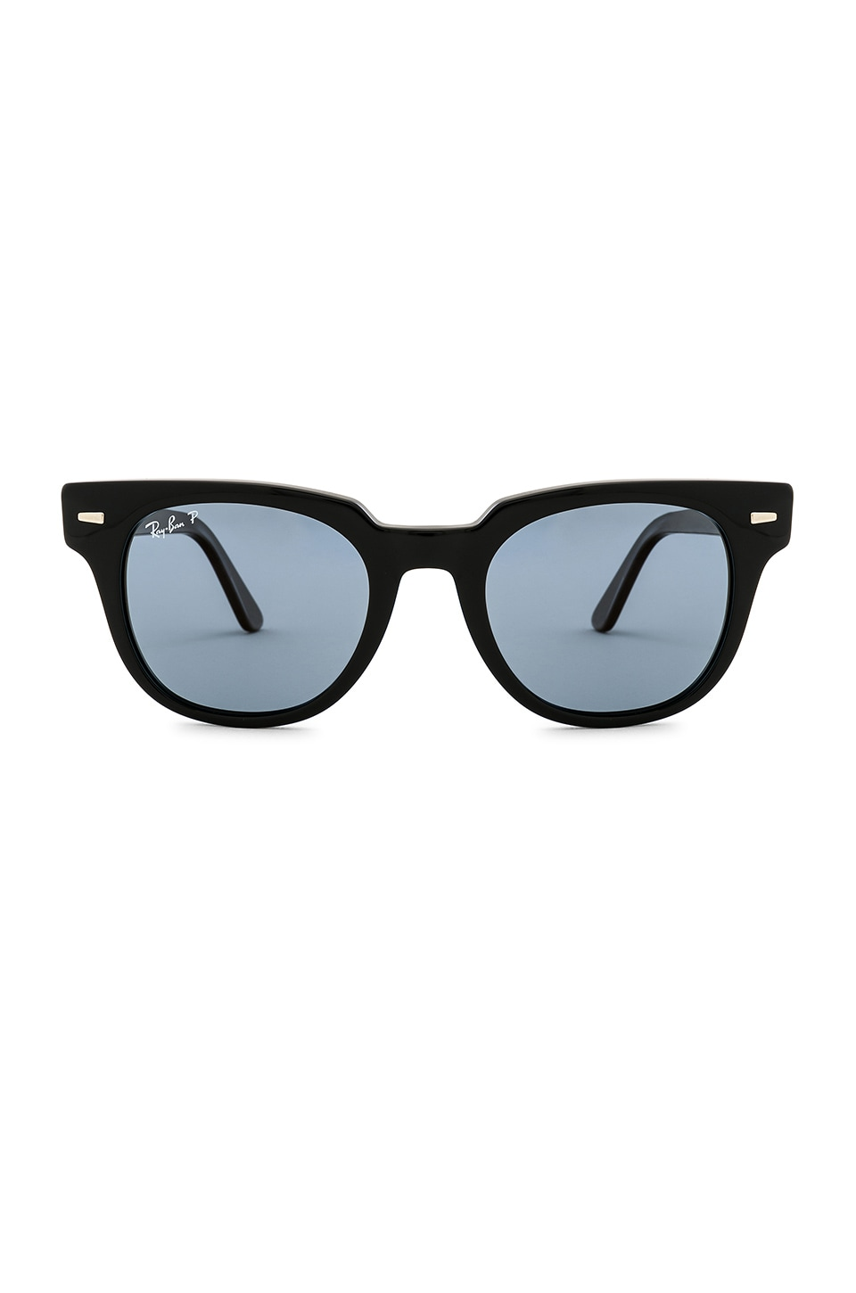 Ray-Ban Meteor in Shiny Black & Blue Gold Mirror