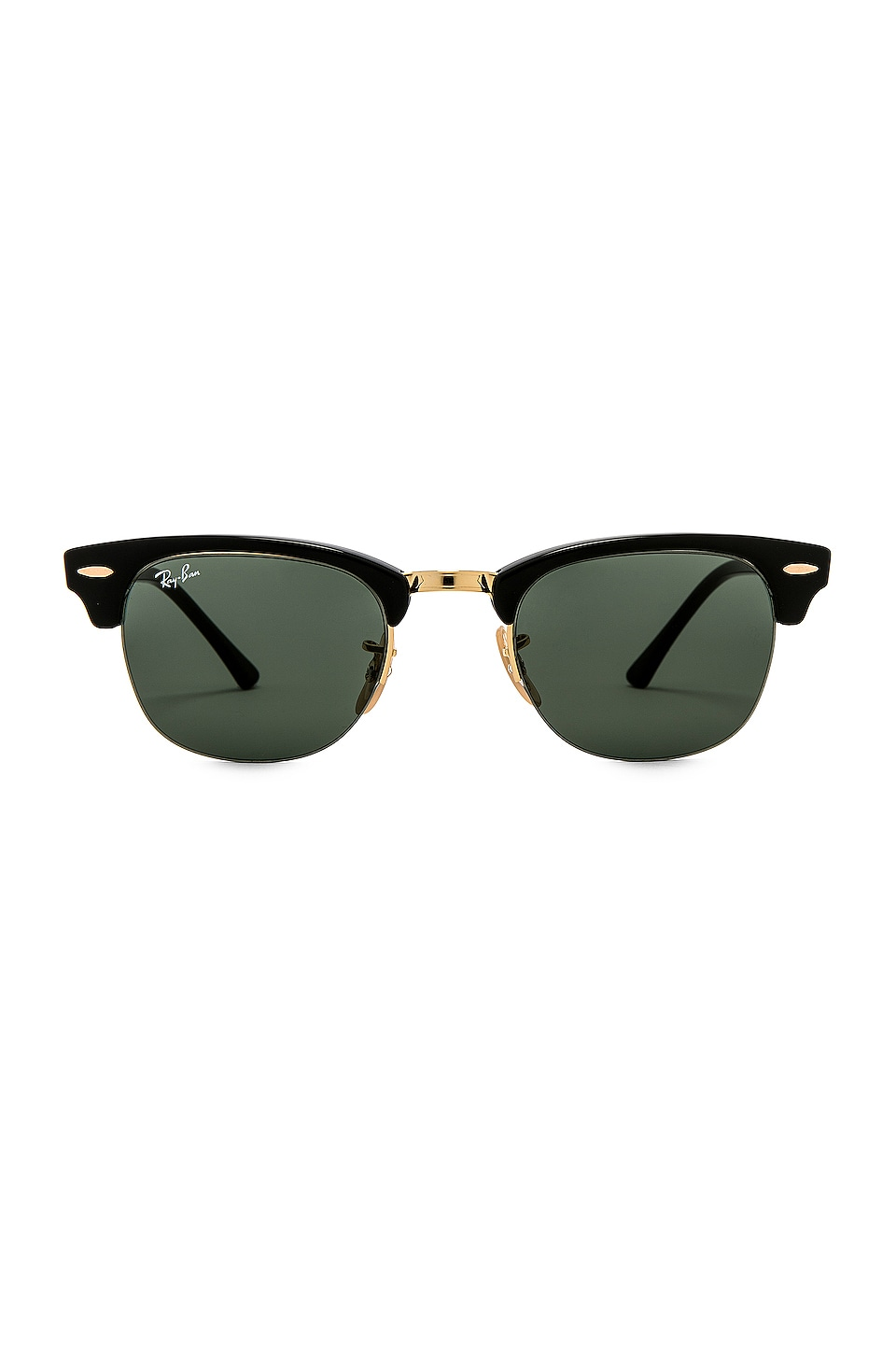 Ray-Ban Clubmaster in Black & Green
