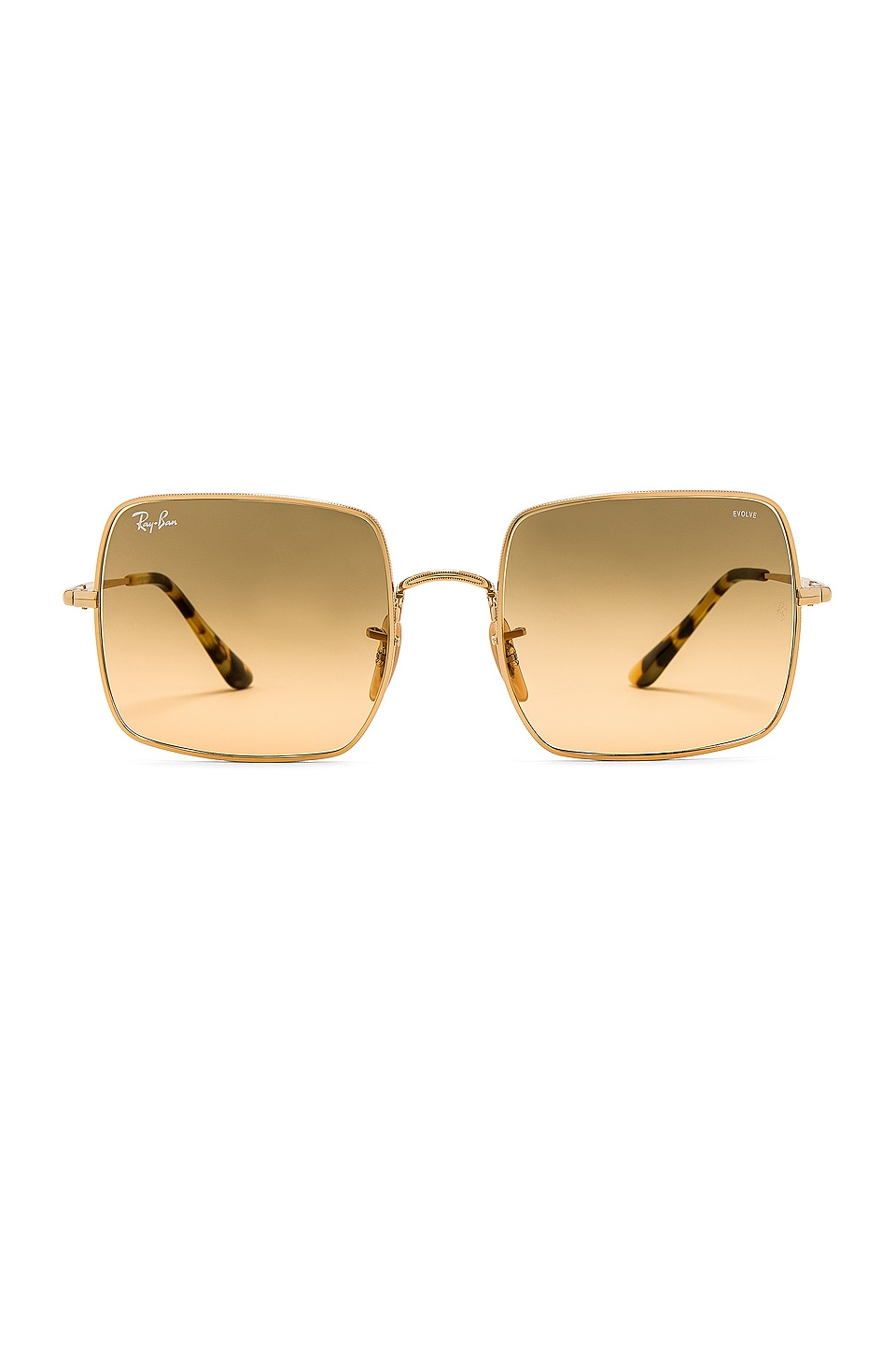Ray-Ban Square Evolve in Gold & Gray Gradient Orange