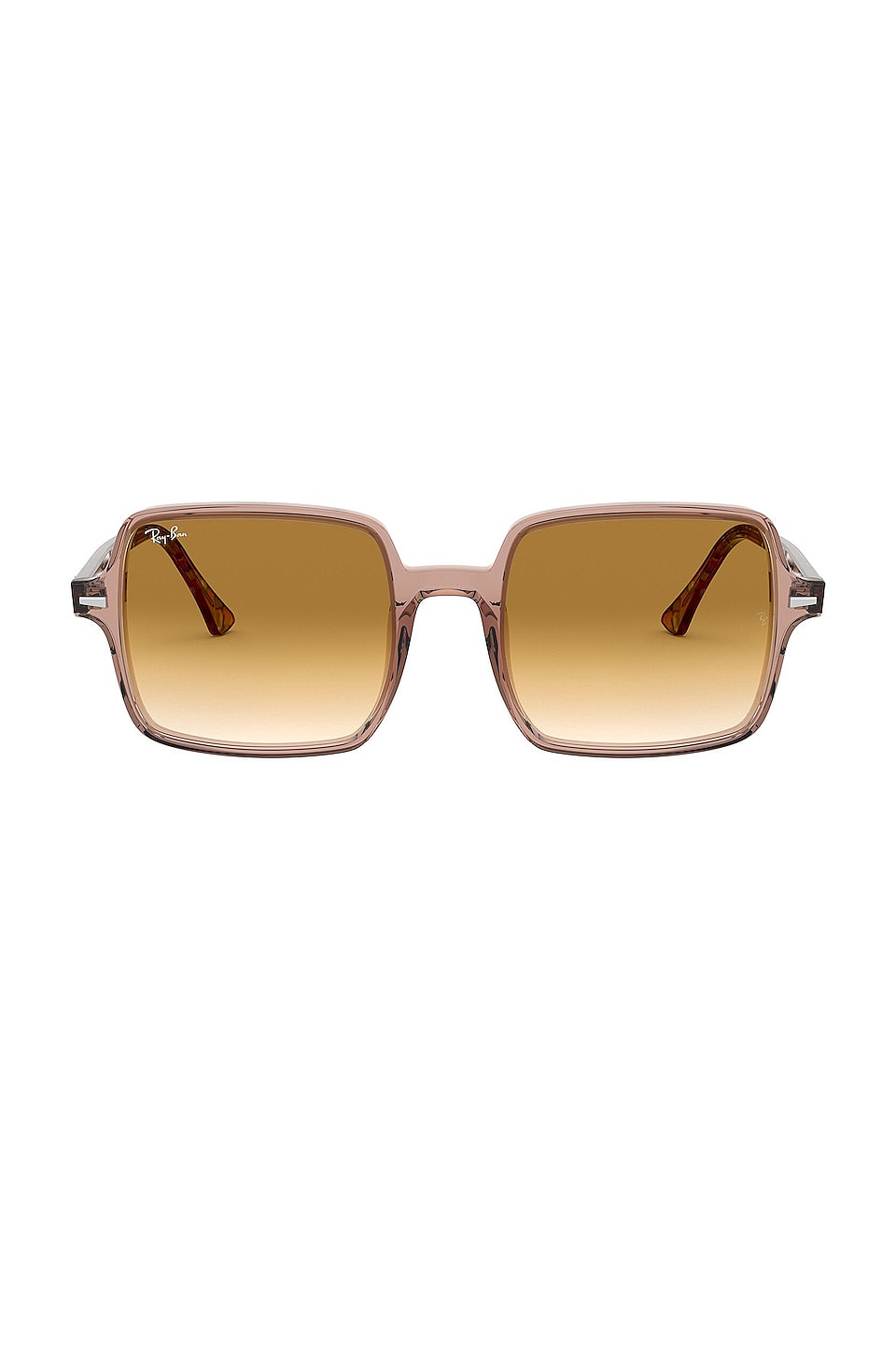Ray-Ban Acetate Square in Transparent Light Brown & Gradient Brown