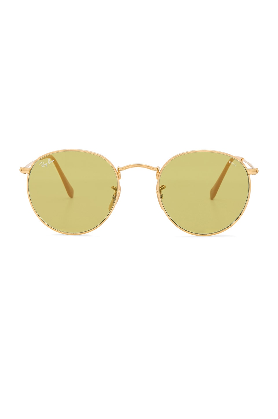 3a560284be03a Ray-Ban Round Evolve in Gold   Photo Green