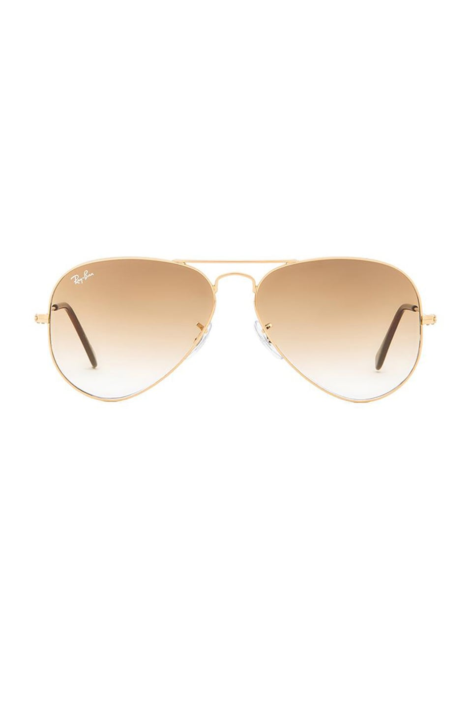Ray-Ban Aviator Gradient in Gold & Light Brown Gradient
