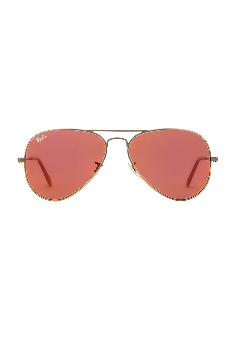 red ray ban aviators  Ray-Ban Aviator Flash Lenses in Bronze Copper \u0026 Red Mirror