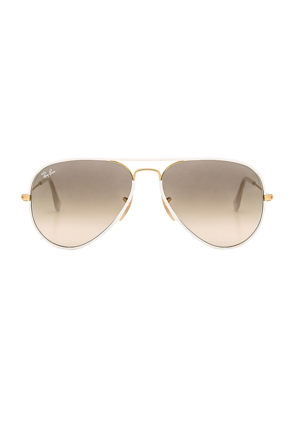 Ray-Ban Aviator Full Color in White & Gold & Light Grey Gradient