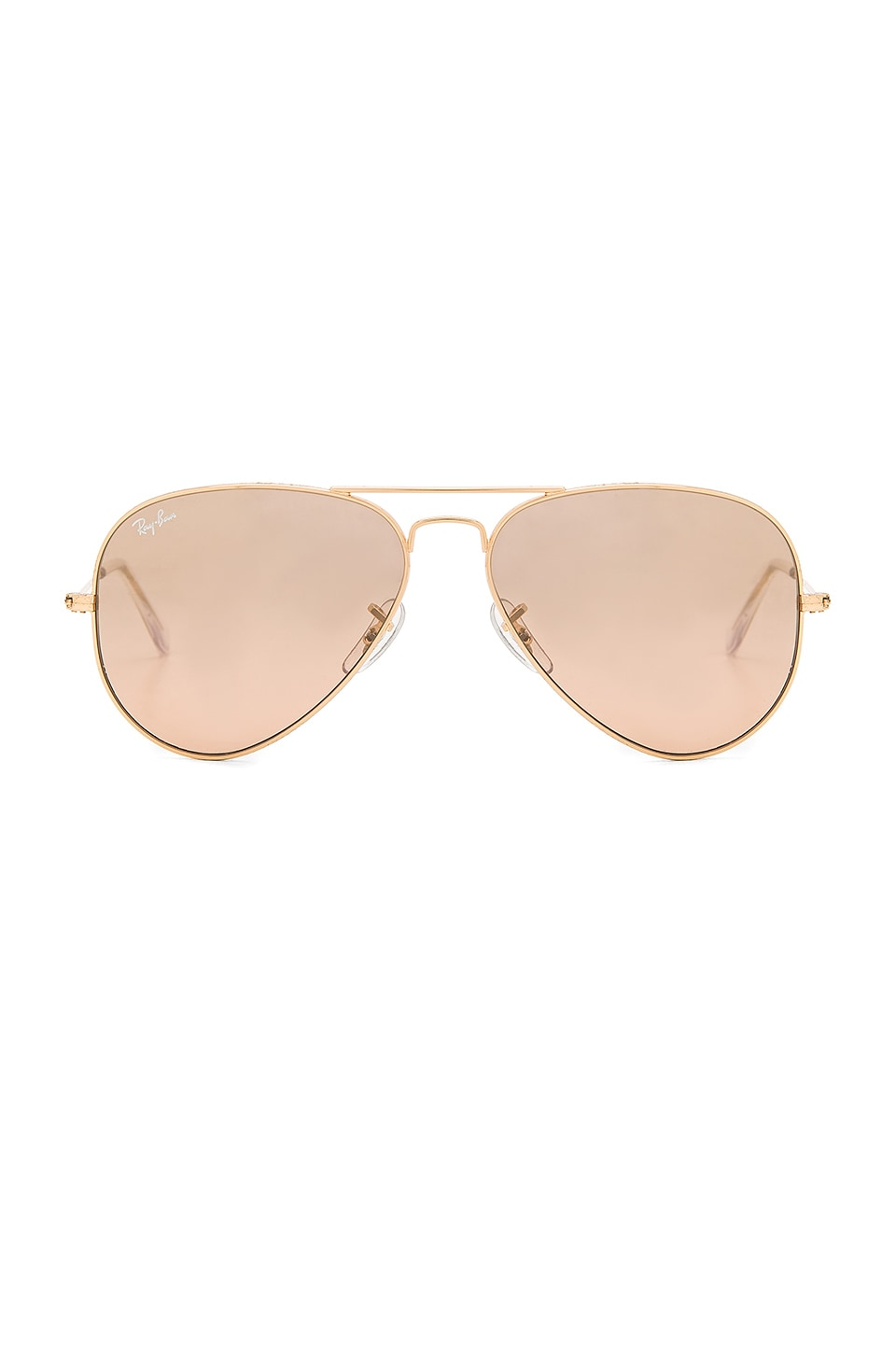 Ray-Ban Aviator in Gold & Crystal Brown Pink Silver Mirror
