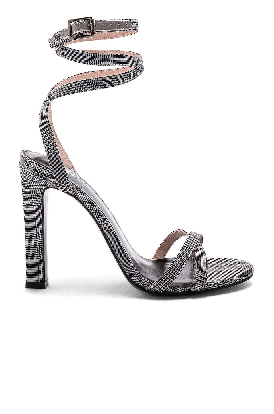 RAYE x House Of Harlow 1960 Nelly Heel in Grey Plaid