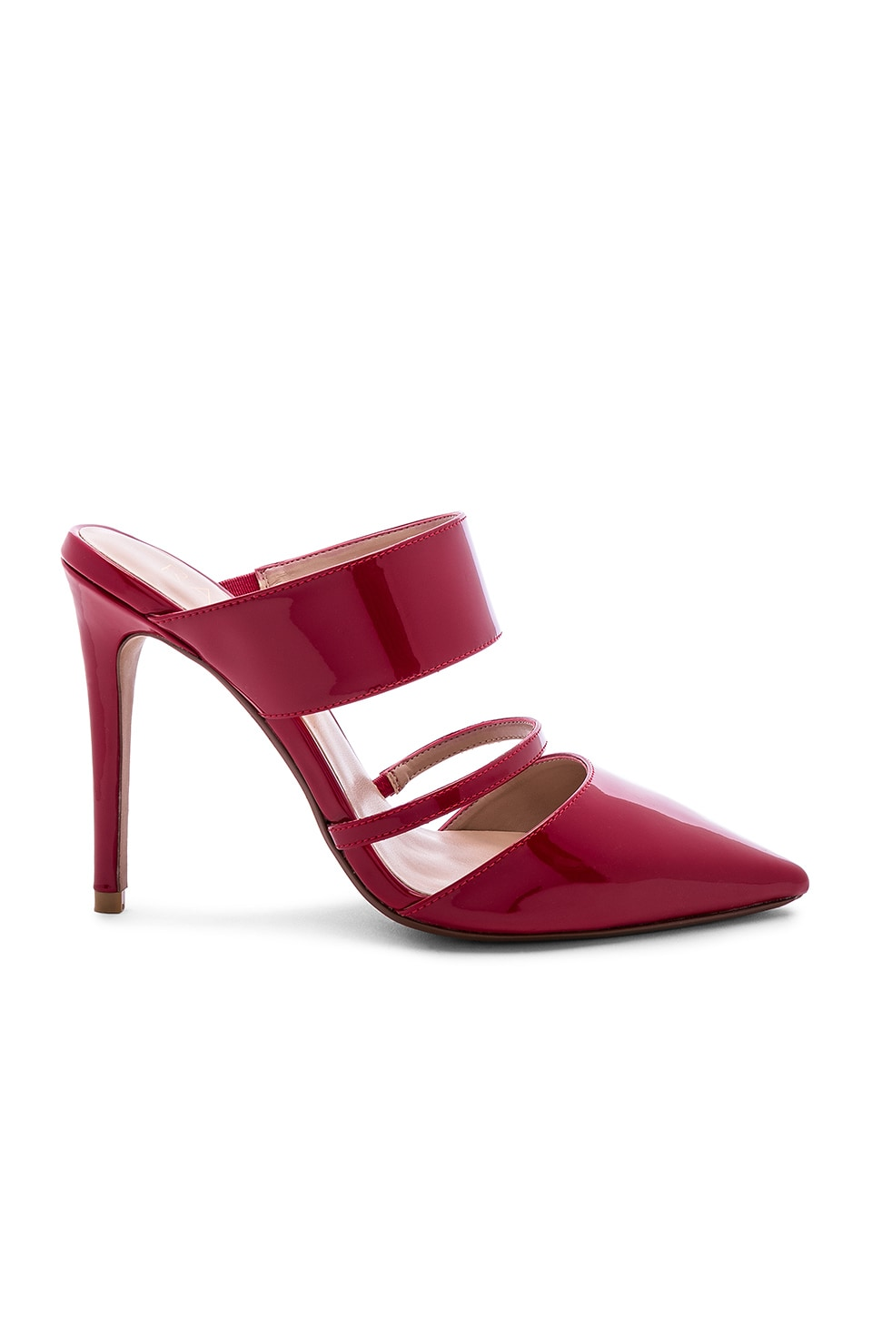 RAYE Bend Heel in Dark Red