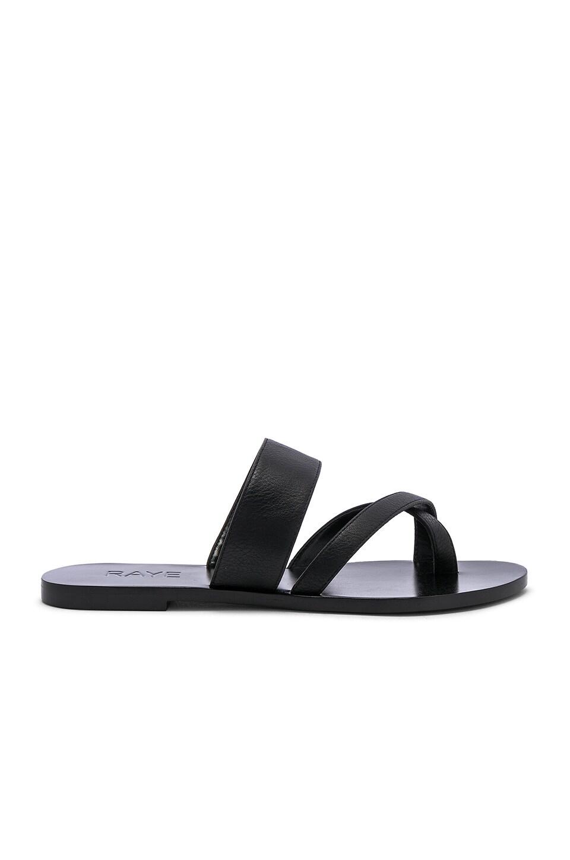 RAYE Crescent Sandal in Black